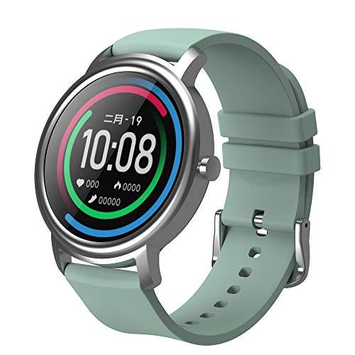Smart Watch HD Touchscreen 12 Sport-Modi IP68 Wasserdicht Bluetooth 5.0 Schlafüberwachung Bio Herzfrequenz Tracker Vollmetall Design Uhr