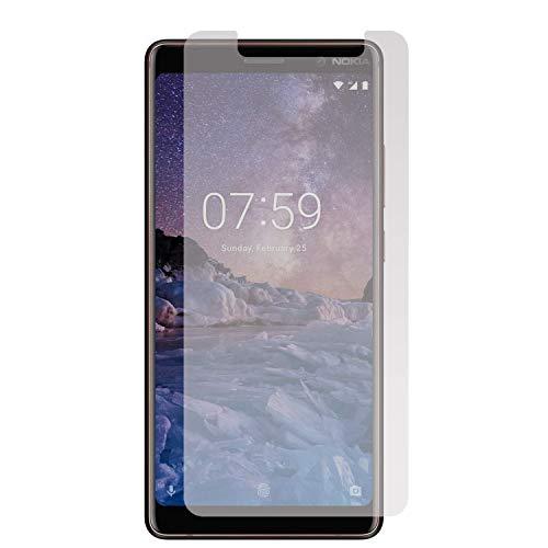 Movilrey Protector para Nokia 7 Plus Cristal Templado de Pantalla Vidrio 9H para movil