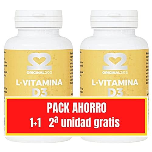 Vitamina D3 Estimula el Sistema Inmunológico, para mejorar las defensas, los huesos las articulaciones y mantener una piel sana Pack Ahorro 2ª unidad Gratis