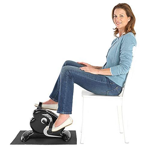 maxVitalis 2in1 Arm- und Beintrainer Mini Bike Pedaltrainer mit Motor, inkl. Trainingsdisplay, Massage-Handgriffe Anti-Rutschmatte, ideal für Senioren, Mini Heimtrainer schwarz