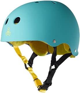 Triple Eight Sweatsaver Liner Skateboarding Helmet, Baja Teal Rubber, Medium