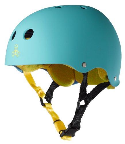 Triple Eight Sweatsaver Liner Skateboarding Helmet, Baja Teal Rubber, Small