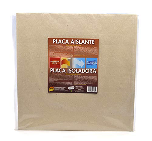 Pyro Feu 24961-6 Placa Aislante Fibra de Roca 850ºC 50 x 50 cm, Gris