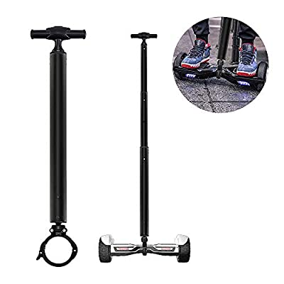 "Locisne Stretchable Aluminum Alloy Balance Scooter Handle Bar, Smart Hover Scooter Support Handlebar, Beginners Electric Hoverboard Holder for 6.5"",10"" Two Wheeled Scooter"
