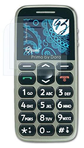 Bruni Schutzfolie kompatibel mit Doro Primo 215 Folie, glasklare Bildschirmschutzfolie (2X)