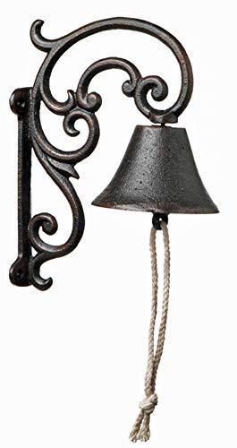 Homeshop Glocke aus Gusseisen zur Wandmontage