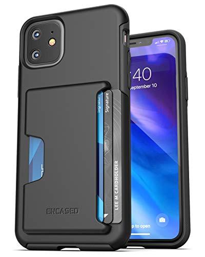 Encased iPhone 11 Wallet Case (2019) Ultra Duurzame Cover met Kaarthouder Slot (4 Credit Cards Capacity) Zwart