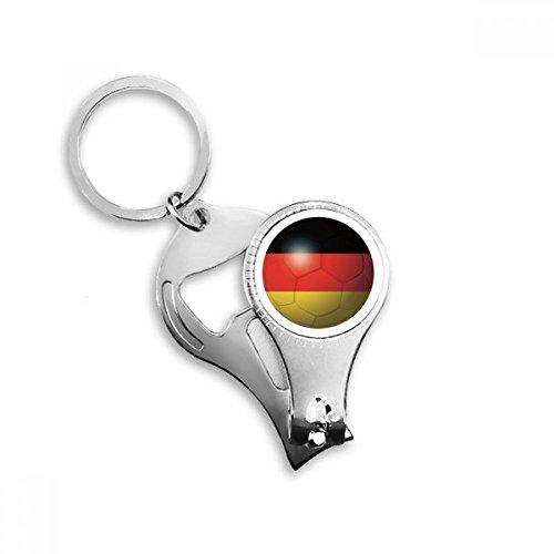 Duitsland Nationale Vlag Voetbal Sleutelhanger Ring Teen Nagel Clipper Snijder Schaar Gereedschap Kit Flesopener Gift