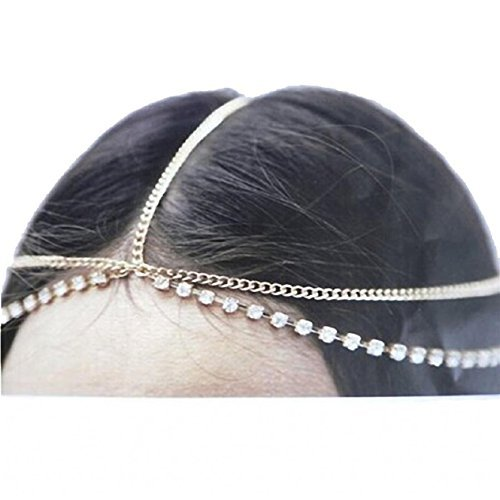 Malloom® Fatima Metal Head Chaîne de Bijoux de la Chaîne Bandeau Head Piece Band Cheveux