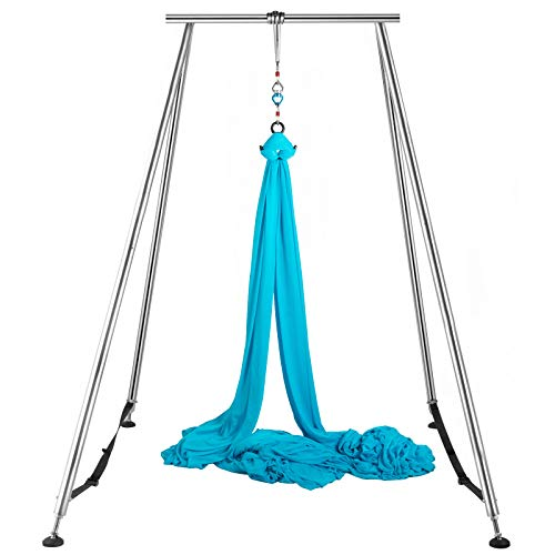 Review Of LOVSHARE Yoga Sling Inversion 68lbs 731lbs Inversion Yoga Swing Stand 551lbs/250kg Aerial ...