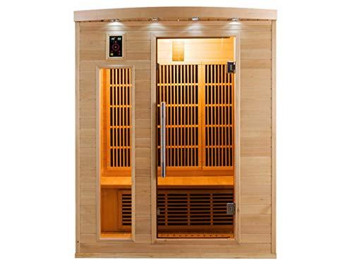 Sauna Infrarouge Cabina 3 Posti Apollon 2280W