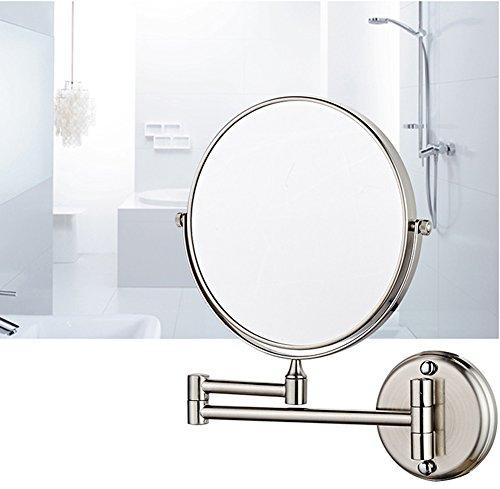 DADAO Mirroir de Maquillage INOX Miroir grossissant télescopique Beauté Maquillage Salle de Bain-B 8inch