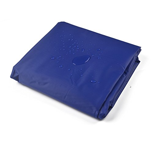 Nesports 9-Foot Vinyl Pool Table Cover Waterproof Billiard Covers Weighted Corners (Blue)