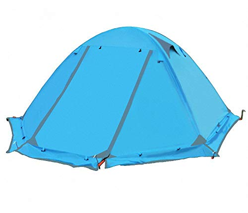 Qazxsw 2 Person Combination Tent Double Layer Detachable Carry Bag Windproof Waterproof 3-4 Season Camping Tents Easy Setup Camping Hiking