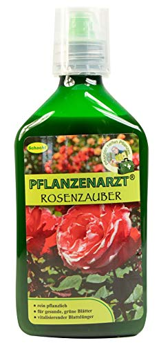 PFLANZENARZT® Rosenzauber, Organischer PK-Flüssigdünger/Blattdünger für Rosen, 350ml