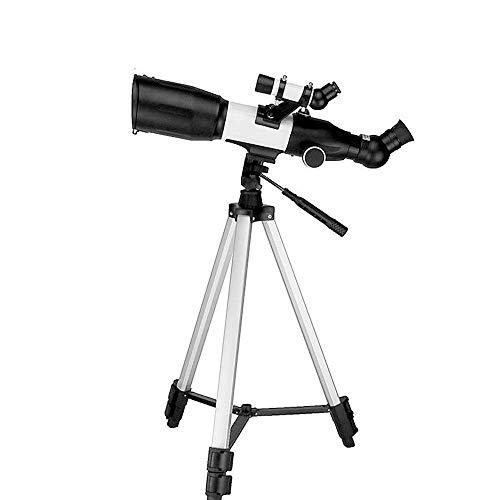 WyaengHai - Telescopio refractor astronómico monocromático para estancias, telescopio de estrella Jupiter Mond Scope ligero y portátil para niños principiantes, metal, blanco, 35 cm