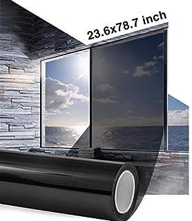 comprar comparacion Vinilo Solar para Privacidad de Ventanas Sin Adhesivos Anti UV Ahorro Energético Cristal Tintado Efecto Espejo, 60x200cm