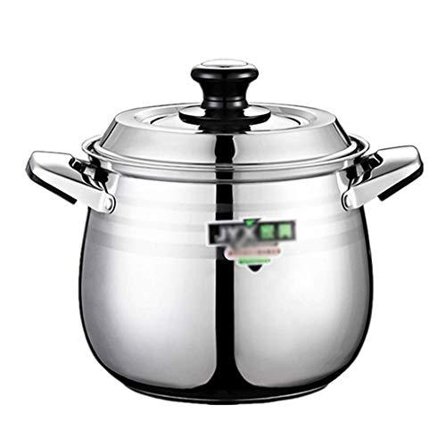 ZLJ Pentola per brodo pentola per zuppa in Acciaio Inossidabile pentola per Cottura pentola Antiaderente Doppio Fondo Spesso (20 22 24 26 cm) per fornello a Gas pentola a induzione (di