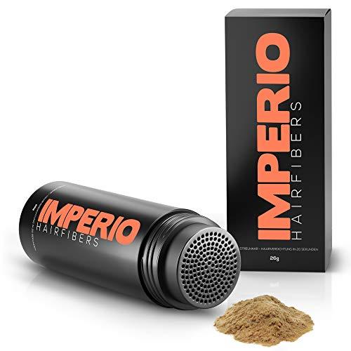 Fibras capilares Imperio – Para disimular la caída de cabello – Microfibras naturales de algodón resistentes – Rubio oscuro
