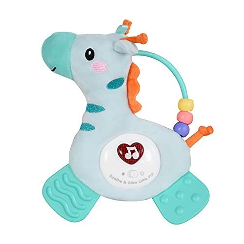 DERCLIVE Recién nacidos de juguete de peluche de caballo de juguete con el mordedor de la música del color sonajero colgante de la muñeca animal para la cama de bebé cochecito de cuna
