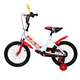 Ridgeyard 16 pulgadas Bicicleta Infantil Estudio aprendizaje montar a caballo bicicleta niños niñas bicicleta con ruedines por 3-5 años(rojo)