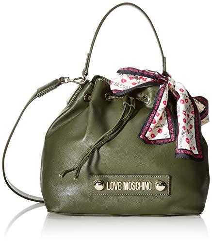 Love Moschino Unisex-Erwachsene Jc4032pp18lc0850 Beuteltasche, Grün (Verde), 25x9x28 Centimeters