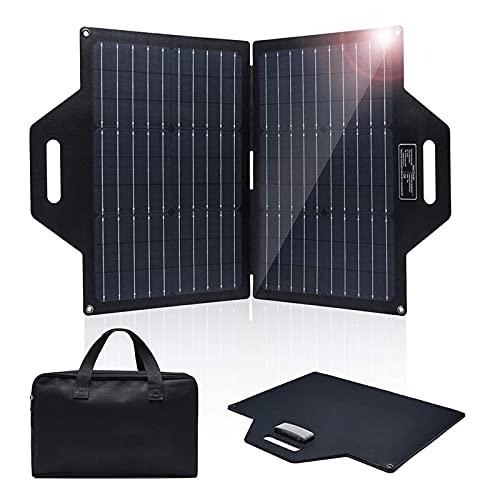 Zaino solare da 60 W, caricatore solare 2100 mAh, banca di energia solare con 2 pannelli solari pieghevoli e doppie uscite, caricatore portatile per telefono per escursioni in campeggio compatibile co