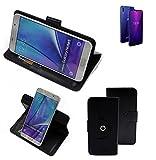 K-S-Trade® Case Schutz Hülle Für Allview Soul X6 Mini Handyhülle Flipcase Smartphone Cover Handy Schutz Tasche Bookstyle Walletcase Schwarz (1x)