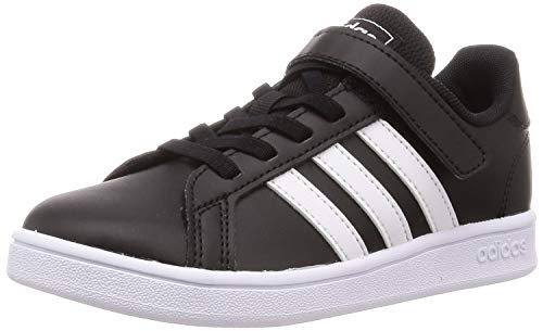 adidas Grand Court C, Zapatillas de Tenis Unisex Niño, Negro (Negbás/Ftwbla/Ftwbla 000), 35 EU