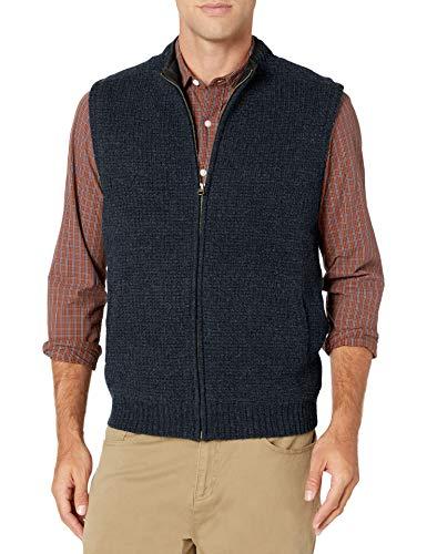 Pendleton Men's Shetland Zip Vest, Indigo Heather, XL