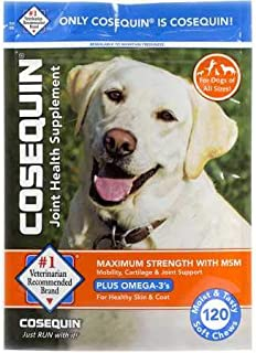 Cosequin Soft Chews Maximum Strength with MSM Plus Omega3 (120 Soft Chews)