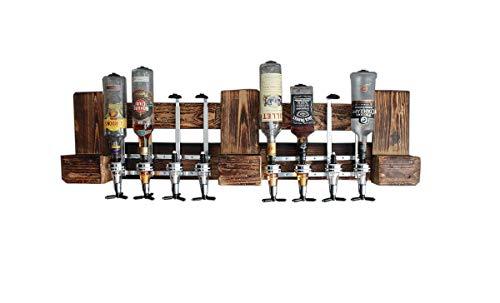 GETRÄNKESPENDER HOLZBAR 4cl für 8 Flaschen Holzbar aus Europaletten Deutschland Österreich