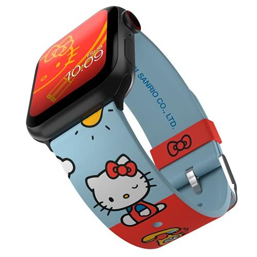Sanrio - Hello Kitty Vintage Colors Smartwatch Band - Licencia oficial, compatible con Apple Watch (no incluido) - Se adapta a 38 mm, 40 mm, 42 mm y 44 mm