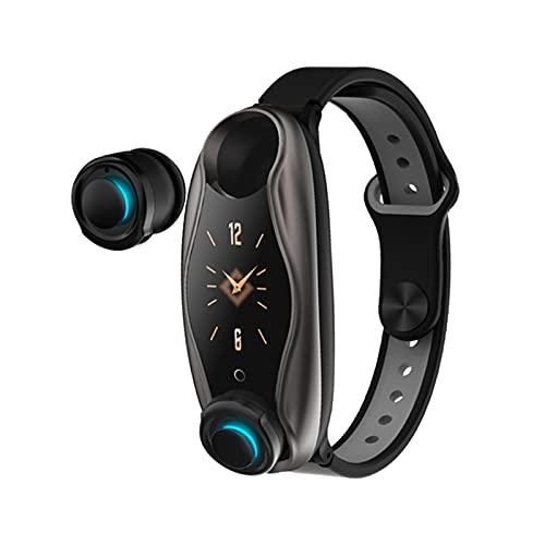 zyz T90 Nuevo Reloj Inteligente, Auriculares Inalámbricos Bluetooth, Deportes Impermeables IP67, Monitor De Ritmo Cardíaco, Pulsera De Forma Larga En Espera,B
