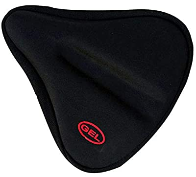 Bentrance Exercise Bike Seat Cushion Cover - Extra Soft & Wide Silicone Bicycle Saddle Cushion, 3D Gel Ergonomic Pad for Men Women Comfortable Exercise