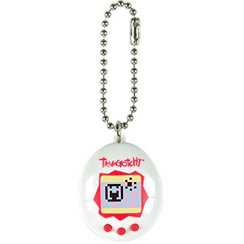 TAMAGOTCHI Bandai – 41819 Weiß und Rot – Mini-Ei mit virtuellem Tier