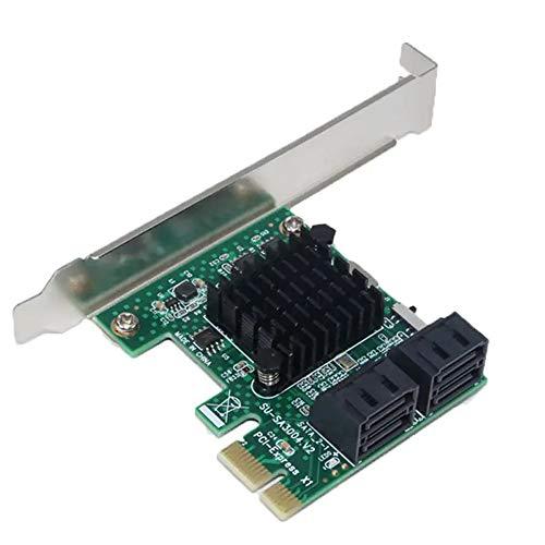 PCIe SATA-kaart PCI-E naar SATA 3.0 4 - poort 6G uitbreidingskaarten SSD Solid State IPFS harde schijf uitbreidingskaart apparaten op een pc of moederbord RAID-controller