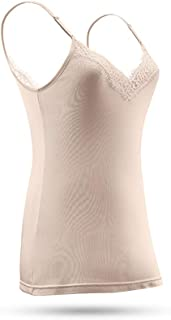 Women's Silk Lace Camisole Tank Top Laced V-Neck Cami Undershirts for Lady