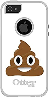 DistinctInk Case for iPhone 5 / 5S / SE - OtterBox Commuter Black Custom Case - Poop Emoji