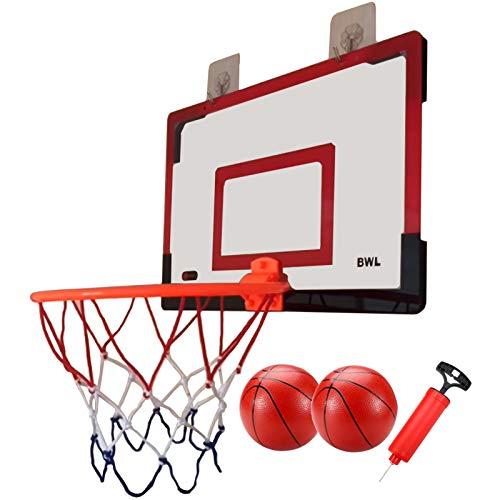 Canasta Baloncesto Aro de Baloncesto Portátil para Niños en La Puerta, Mini Juego de Baloncesto para Interiores y Exteriores con Tablero de PC de Alta Resistencia - Juguetes Deportivos Únicos para Niñ