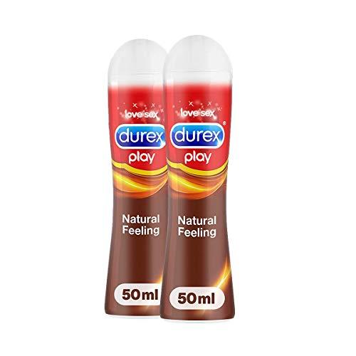 Durex Natural Feeling Gleit und Erlebnisgel auf Silikonbasis, für ein natürliches Gefühl, (2 x 50 ml), 100 ml
