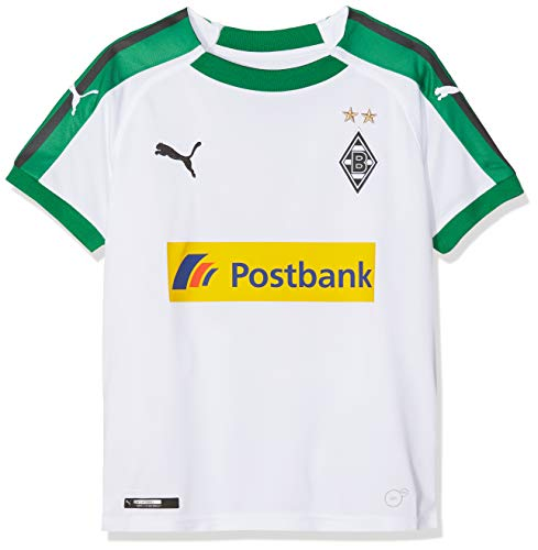 PUMA Kinder Trikot BMG Home Replica with Sponsor Logo, Puma White, 140, 753453