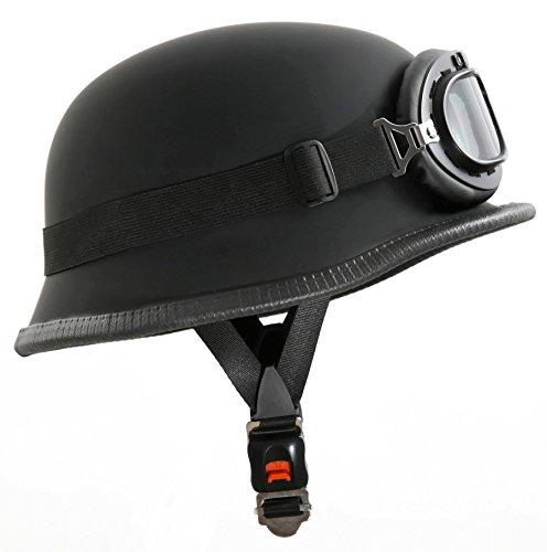 Motorradhelm im Wehrmacht Style mit Brille Größe M 57-58cm - 2