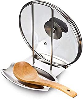 Stainless Steel Pan Pot Rack Cover Lid Rest Stand Spoon Holder Kitchen accessories