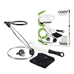 VOOV Contemporary Premium Decanter Cleaning Set with Drying Stand