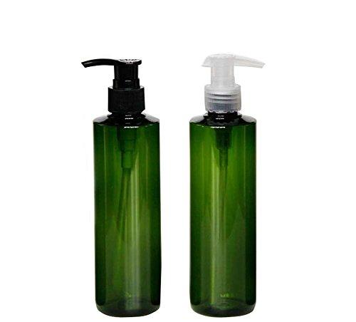 250ML rellenable Bomba de vacío verde botellas tarros con bomba Tops para...
