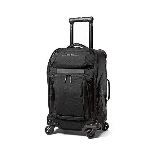 Eddie Bauer Unisex-Adult Travex Voyager 2.0 Rolling Bag, Black Regular ONESZE