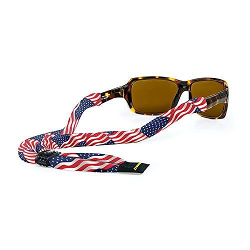 """Croakies Croakies Herren SUITP21HT Suiters Brillenband, USA-Flagge, 28"""" x 1/2"""""""