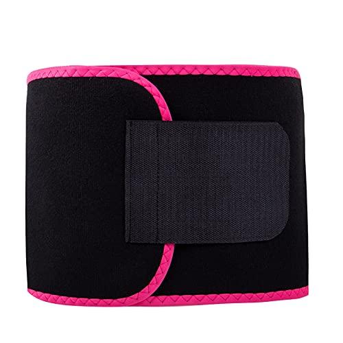 Royal Matrix Women's Waist Trimmer Belt, Sweat Wrap, Premium Waist Trainer for Men and Women (Rose, X-Large)