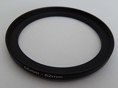 vhbw Adaptador de Filtro Step up 55mm-62mm Negro para cámaras Tamron 90...